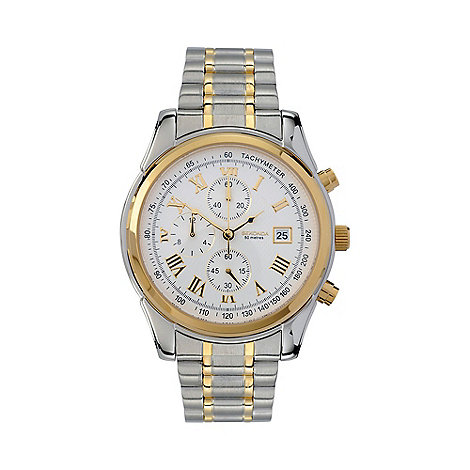 Sekonda - Men+s  silver round chronological bracelet watch