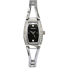 Sekonda - Ladies chrome colour semi- bangle bracelet watch