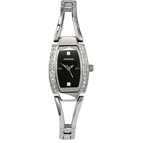 Sekonda - Ladies chrome colour semi- bangle bracelet watch 4355.27