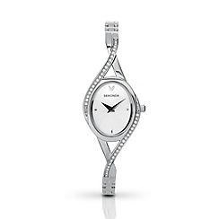 Sekonda - Ladies chrome coloured semi-bangle bracelet watch