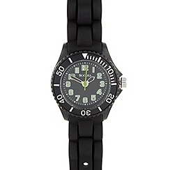Tikkers - Kid's black rubber strap watch tk0064