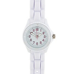 Tikkers - Kid's white rubber strap watch