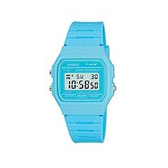 Casio - Ladies turquoise square case watch