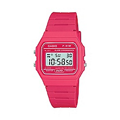 Casio - Unisex pink square case watch