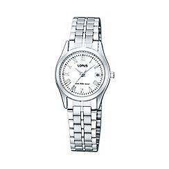 Lorus - Ladies silver round dial bracelet watch rxt91dx9