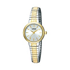Lorus - Ladies gold round dial two tone bracelet watch rrs37tx9