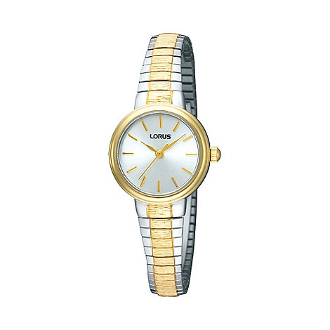 Lorus - Ladies gold round dial two tone bracelet watch