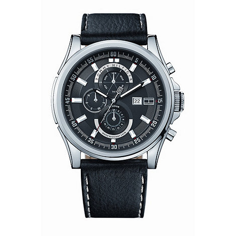 Tommy Hilfiger - Men+s black +arlington+ watch