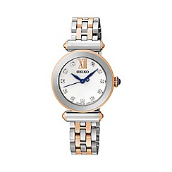 Seiko - Ladies two-tone rose gold stainless steel bracelet watch
