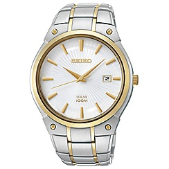 Seiko - Men's Two-Tone Solat Bracelet watch