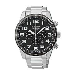 Seiko - Men's stainless steel solar chronograph bracelet watch