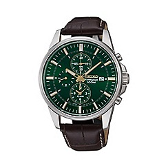 Seiko - Men's chronograph strap watch snaf09p1