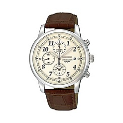 Seiko - Men's chronograph strap watch