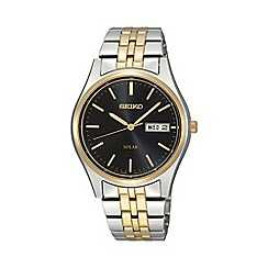 Seiko - Men's Two-Tone Stainless steel bracelet watch sne034p1