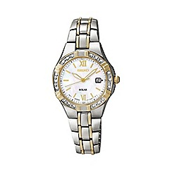 Seiko - Ladies two-tone stainless steel bracelet watch sut068p9