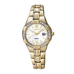 Seiko - Ladies gold plated solar bracelet watch