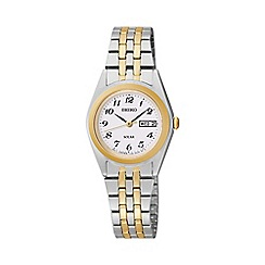 Seiko - Ladies two-tone stainless steel bracelet watch sut116p9