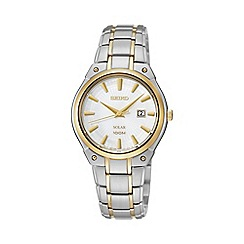 Seiko - Ladies two-tone stainless steel bracelet watch sut128p1
