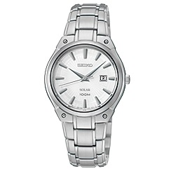 Seiko - Ladies stainless steel solar bracelet watch