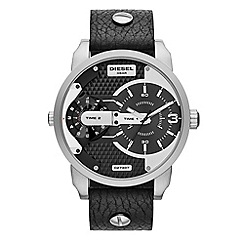 Diesel - Unisex 'Mini Daddy' chronograph stainless steel leather watch