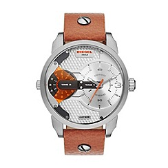 Diesel - Unisex SS brown strap watch