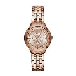 Armani Exchange - Ladies stainless steel rose gold bracelet watch ax5416