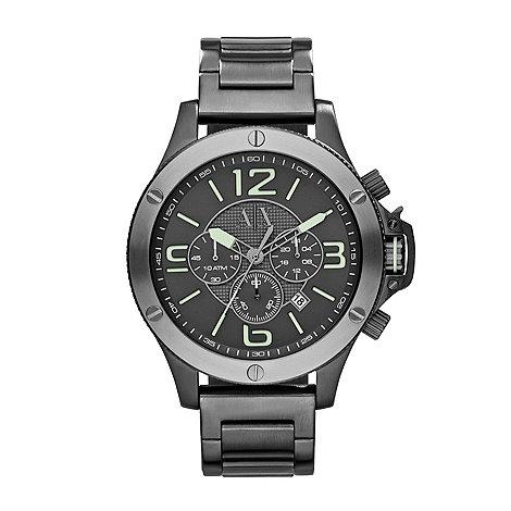 Armani Exchange - Mens street gunmetal bracelet sport watch