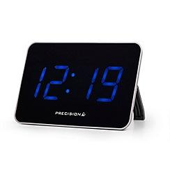 Precision - Black and silver radio controlled clock