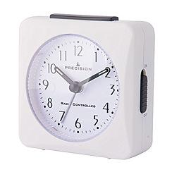 Precision - White radio controlled alarm clock