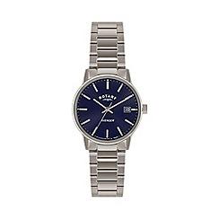 Rotary - Mens 'Avenger' blue dial bracelet watch gb02874/05