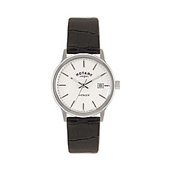 Rotary - Mens 'Avenger' white dial black strap watch