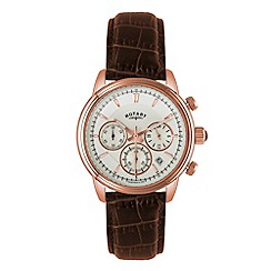 Rotary - Mens 'Monaco' rose gold chronograph watch