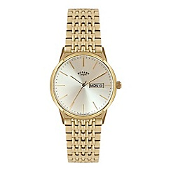 Rotary - Mens 'Windsor' day/date gold bracelet watch