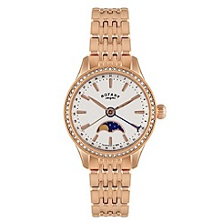 Rotary - Ladies 'Beaumont' moonphase bracelet watch
