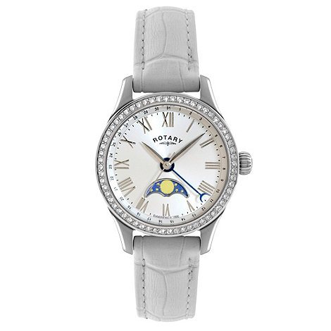 Rotary - Ladies +Beaumont+ moonphase strap watch