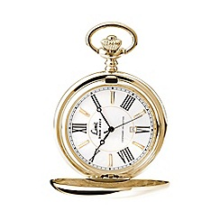 Limit - Men's Centenary collection gold plated full hunter pocket watch.