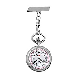 Limit - Nurses silver coloured fob watch.