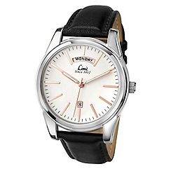 Limit - Men's silver coloured day/date strap watch