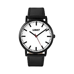 Limit - Men's black case strap watch.