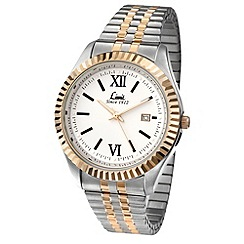 Limit - Men's two tone expanding bracelet watch
