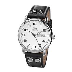 Limit - Men's Pilot style black strap watch.
