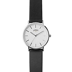 Limit - Men's silver coloured Pilot style nato strap watch.