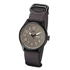 Limit - Men's black Pilot style nato strap watch.