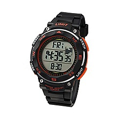 Limit - Men's black & orange Pro XR  silicone strap watch.