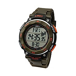 Limit - Men's green & orange Pro XR silicone strap watch.