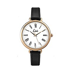 Limit - Ladies oversize gold plated strap watch.