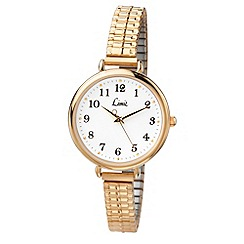 Limit - Ladies oversize gold plated expanding bracelet watch.