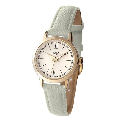 Limit - Ladies gold plated Ivory strap watch.