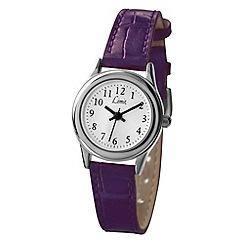 Limit - Ladies silver coloured purple strap watch.