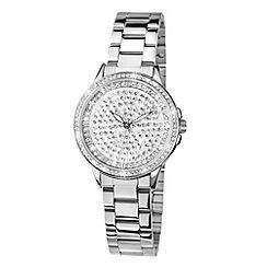 Limit - Ladies silver coloured stone set  bracelet watch.